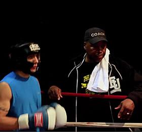 Boxer Shea Sanna with Coach Stan Ward