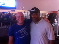 Adam Sessler with Coach Stan Ward