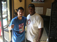 Boxer Juan Maldanado with Coach Stan Ward