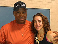 Boxer Lisa Porter with Coach Stan Ward